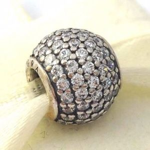 PANDORA Pave Lights Clear Sterling Silver Ball